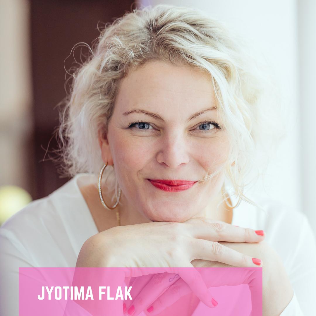 JyotiMa Flak- spearin bei speaker 4 charity