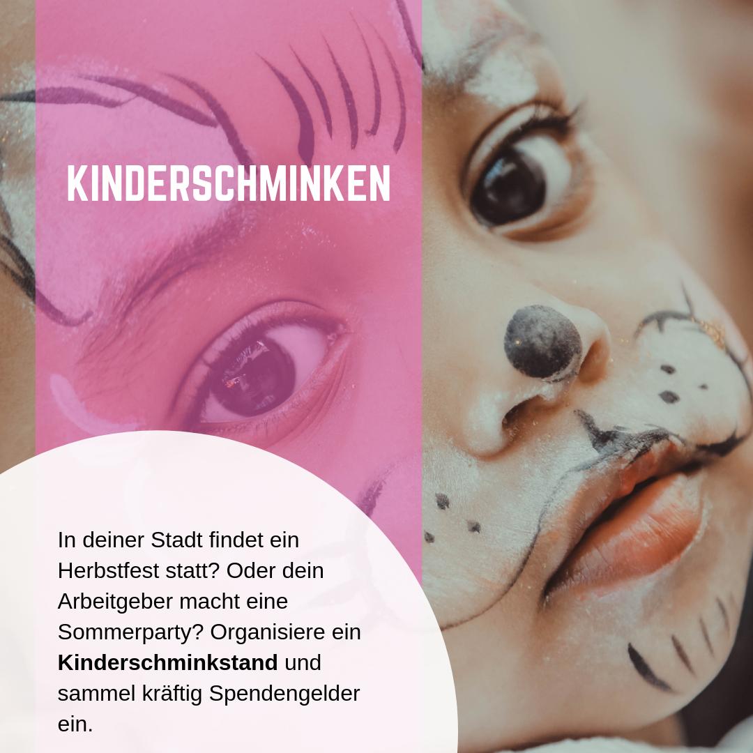 Kinderschminken zu Gunsten von SPEAKER 4 CHARITY